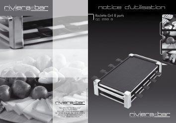 Notice d'utilisation - Raclette-Gril 8 parts - QC 258 A - Riviera et Bar