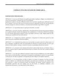 Código Civil del Estado de Chihuahua - Transparencia