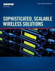 Shure ULX Wireless Systems Product Brochure - J&H Licht en Geluid