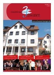 Schwanen-Journal Januar 2013 - Hotel - Restaurant Schwanen