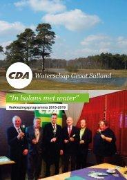 CDAprogramWaterschapGrootSalland2015-2019