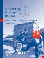 Outsourcing Municipal Services - Community Law Centre