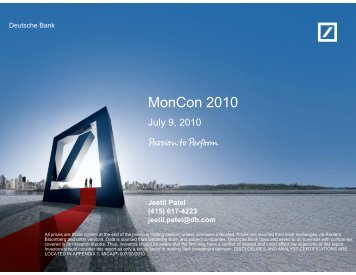 Jeetil Patel, Managing Director at Deutsche Bank - Monsoon ...