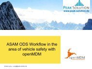 ASAM ODS – Workflow Application Model - Automotive Testing Expo