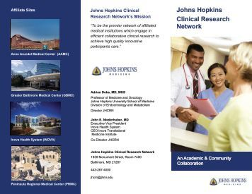Johns Hopkins Clinical Research Network - The Johns Hopkins ...