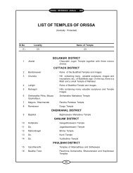 LIST OF TEMPLES OF ORISSA