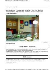 Sashayin' Around With Grace Anne - Sonesta