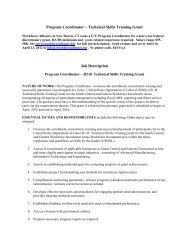 Coordinator Job Description - Workforce Alliance