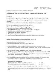 Alkoholpolitiske retningslinjer for Karmøy kommune 2008