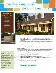 January 2013 - Greystone Properties