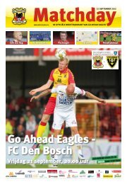 Vrijdag 21 september, 20.00 uur - Go Ahead Eagles