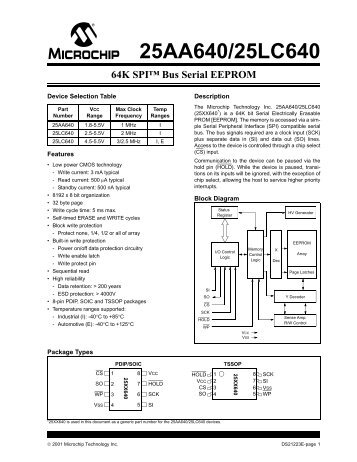 Sensor Head - Bus Serial EEPROM.pdf - Cloud Cap Technology