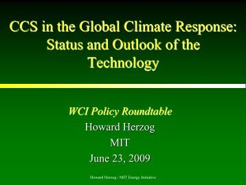 2. CCS in the Global Climate Response - World Coal Association