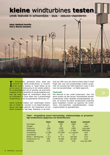 kleine windturbines testen - Gents MilieuFront