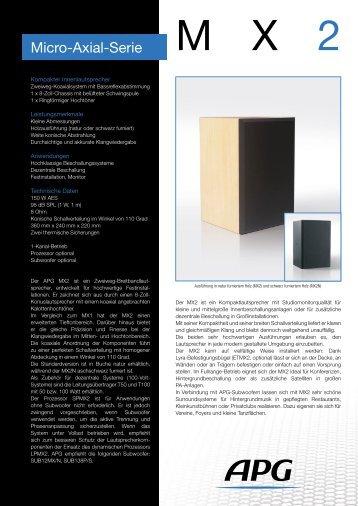 Micro-Axial-Serie - APG