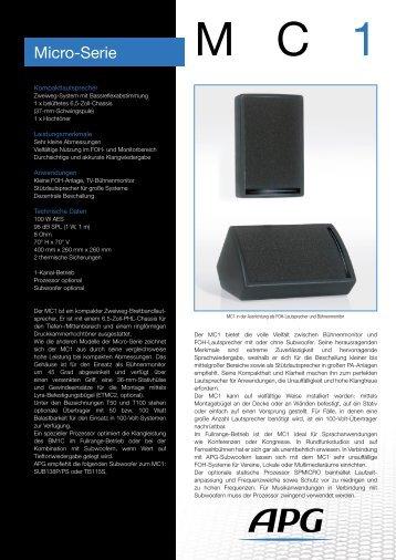 Micro-Serie - APG