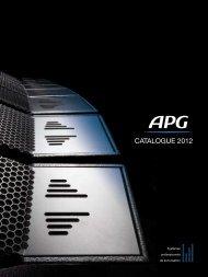 CATALOGUE 2012 - APG