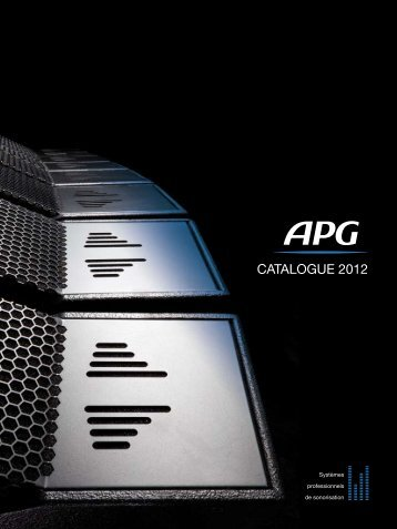 CATALOGUE 2012 - APG