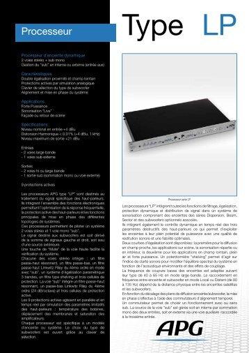 Processeur - APG