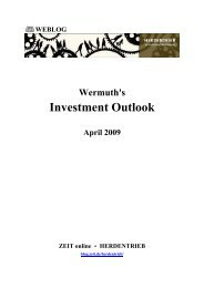 Wermuth's Investment Outlook - April 2009 - Blogs - Zeit