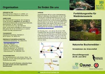 """Tagung """"Naturerbe Buchenwälder"""" - Nationalpark Steigerwald"""