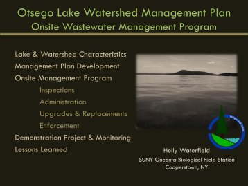 presentation - New York State Water Resources Institute