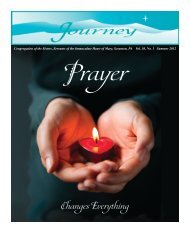 2012 Summer Journey - Congregation of the Sisters, Servants of the ...