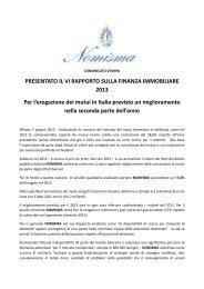 NOMISMA-cs- VI RAPPORTO SULLA FINANZA ... - Aspesi