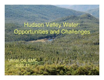 Hudson Valley Water - New York State Water Resources Institute