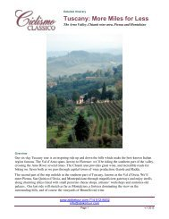 Tuscany: More Miles for Less - Bike Tours To Go