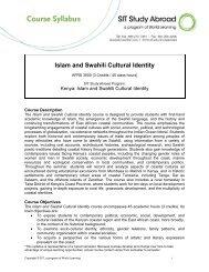 Islam and Swahili Cultural Identity