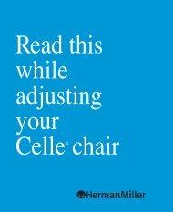 Celle Chair Adjustment Guide - Herman Miller