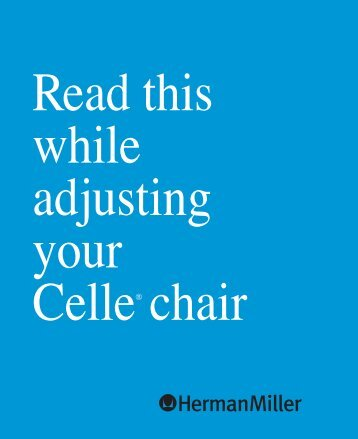Celle Chair Adjustment Guide - Herman Miller