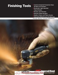 Ingersoll Rand Industrial Finishing Tools - Pneumatic Tools Online
