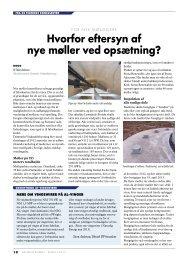 Uvildigt eftersyn også vigtigt på nye møller - Danmarks ...