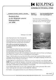 Rundschreiben an die Mitglieder unserer Kolpingsfamilie Juli 2008