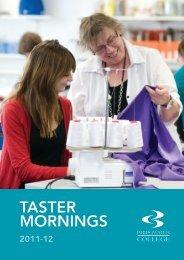 Taster Booklet - Bridgwater College