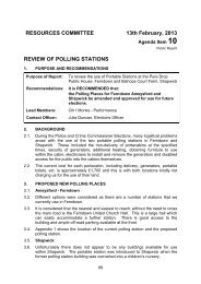 review of polling stations