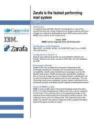 Zarafa is the fastest performing mail system - Capgemini