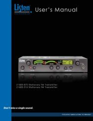 user's manual. - Listen Technologies