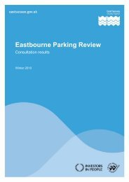 Eastbourne parking review - Consultation results - East Sussex ...