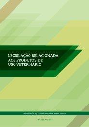 legislação relacionada aos produtos de uso veterinário