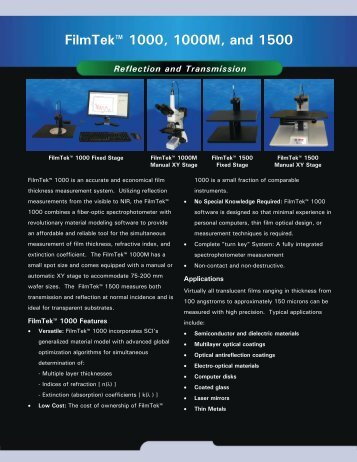 FilmTek 1000 Brochur.. - Scientific Computing International