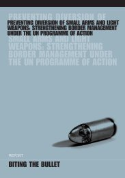 Preventing Diversion of Small Arms and Light Weapons - Saferworld