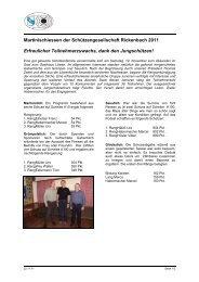 Martinischiessen der Schützengesellschaft Rickenbach 2011 ...
