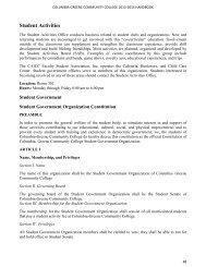 Student Government Constitution - Columbia-Greene Community ...