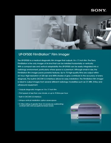 Sony UPDF500 - A Walsh Imaging