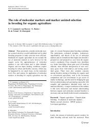 The role of molecular markers and marker assisted selection in ...