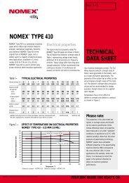 TECHNICAL DATA SHEET NOMEX® TYPE 410 - TE-EPC-LPC