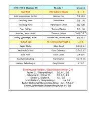 OTC-2013 Herren 2B Runde 1 4 : 2 1 : 5 Tennisrunde Velden / Bad ...